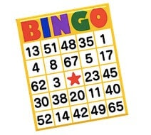 Bingorum med olika spel